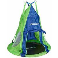 Relaxdays Tente de balancelle pour balancelle jusqu\'à 110 cm Bleu et Vert