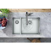 Hansgrohe Évier de cuisine encastrable avec 180/450mm pour un meuble de 800mm, acier inoxydable