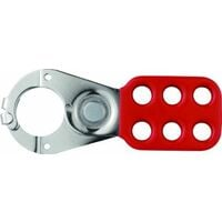 Abus - 801 Lock Out Hasp 1in Rouge avec pince - ABU801R