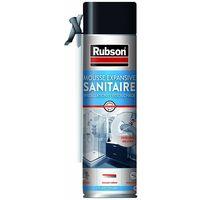 RUBSON Mousse expansive sanitaire installation et rebouchage, isolation canalisations sanitaires, calfeutrage tuyauteries et conduits électriques, 500ml