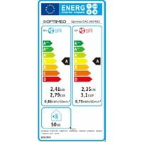 Climatiseur monobloc fixe réversible 2410 W + appoint éléctrique- sans unité extérieure OPTIMEO (Marque française)