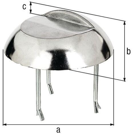 GAH 410476 Auflaufstütze Aluminiumguss anschraubbare Betonanker 65 mm