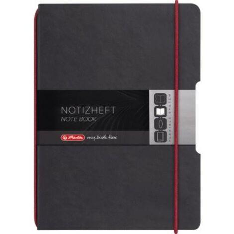 Herlitz Notizheft flex 11361839 Lederoptik DIN A5 40Blatt kariert