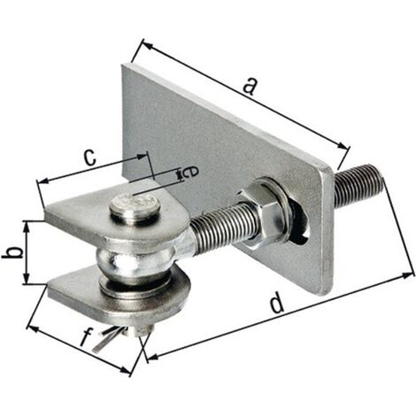 GAH 411053 Torband 75x19x44x120x25x45mm Stahl roh