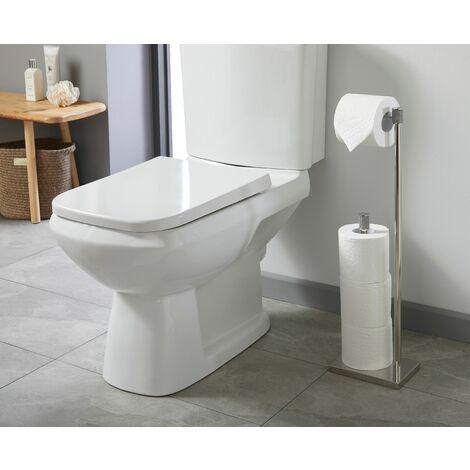 Sparkle Chrome Freestanding Toilet Roll Holder