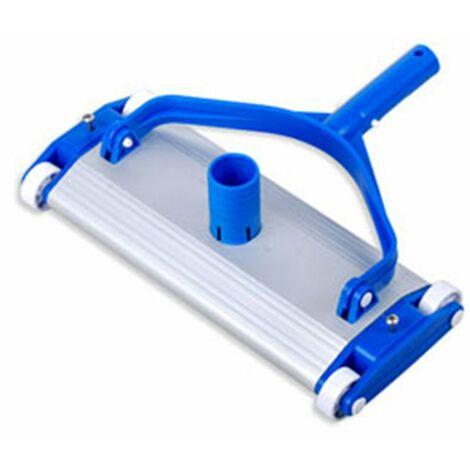 Tête de balai rectangulaire alu pour piscine béton et carrelage