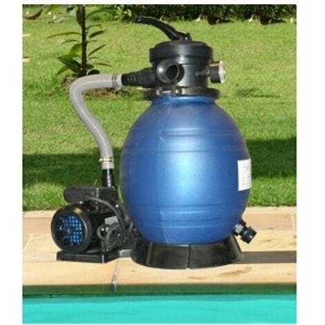 Filtration piscine : Filtre à sable + pompe 4 m3/h avec préfiltre