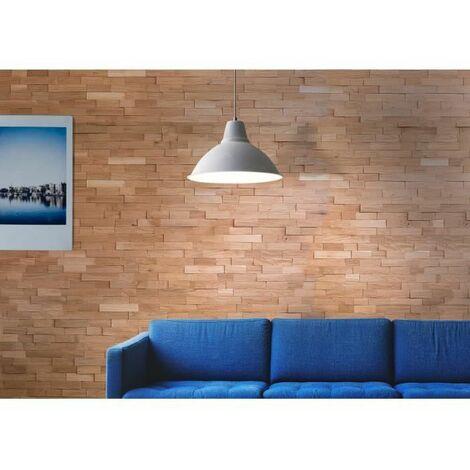 Lambris Chene naturel massif effet 3D. Cartons de 1.35 m2
