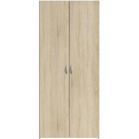 VARIA Armoire 2 portes decor chene L81 cm