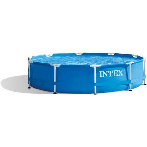 INTEX Kit piscine tubulaire ronde Metal Frame - O 305 x 76 cm