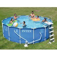 INTEX Kit piscine tubulaire ronde Metal Frame - 457,2 x 121,92 cm