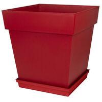 EDA Soucoupe carree Toscane - 40 cm - Rouge