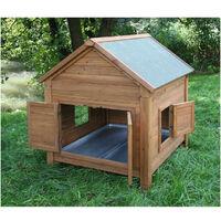 KERBL Abri bois pour poules et lapins - 105x100x108cm