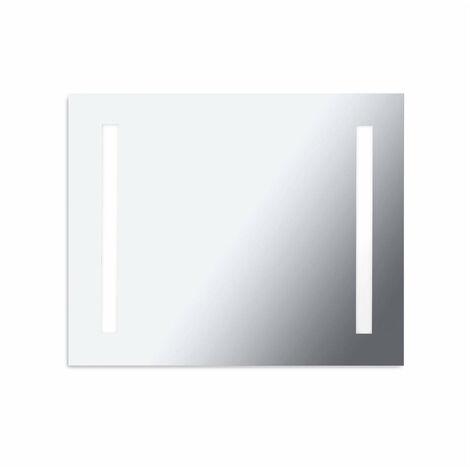 Aplique reflector, aluminio y cristal espejo, 80 cm.