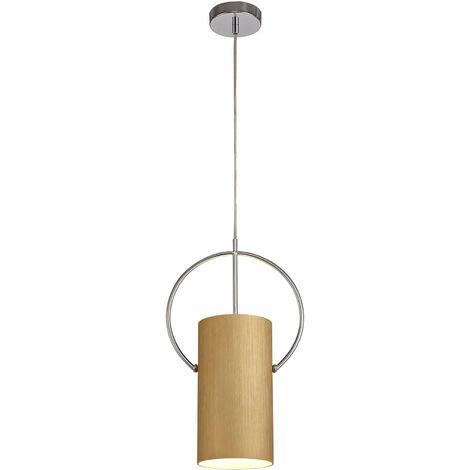 Lámpara colgante Drift design 1 bombilla dorado 120,2 cm
