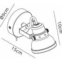 Foco orientable Iva 1 Bombilla Gris mate 6 Cm