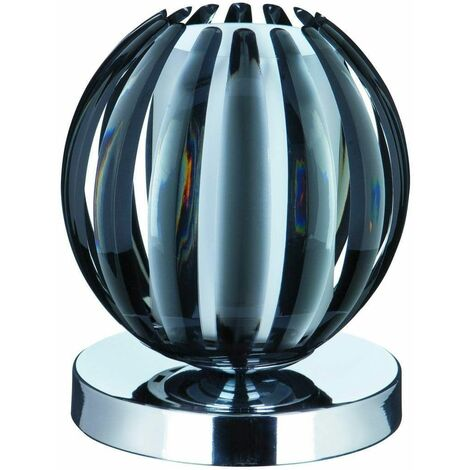 Touch Lamps table lamp, in chrome, smoked acrylic and frosted glass