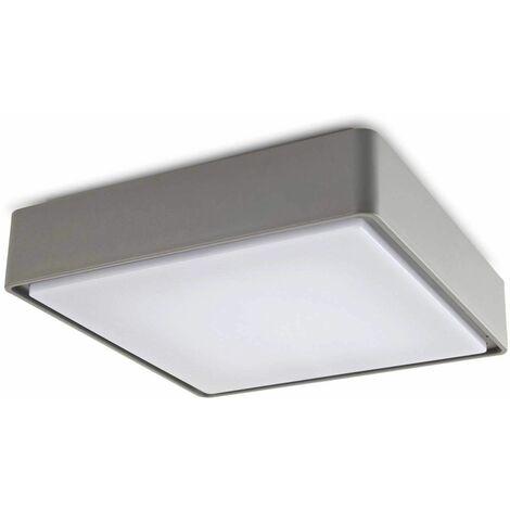 E27 Kossel ceiling light, polycarbonate, gray, 40 cm