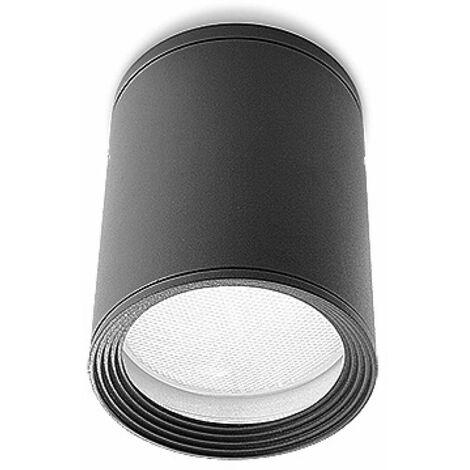 Cosmos ceiling light, aluminum and glass, urban gray