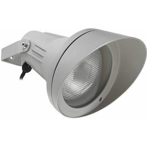 Adjustable Esparta spotlight, aluminum and glass, gray