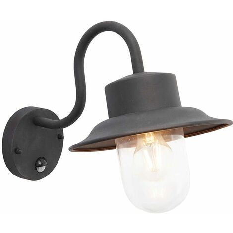 Chesam wall lamp with detector, black