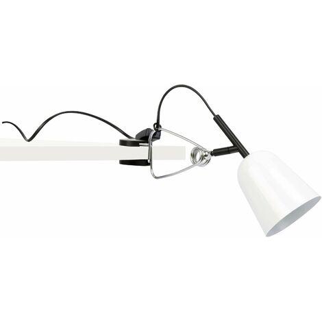 Studio 1-light white desk lamp