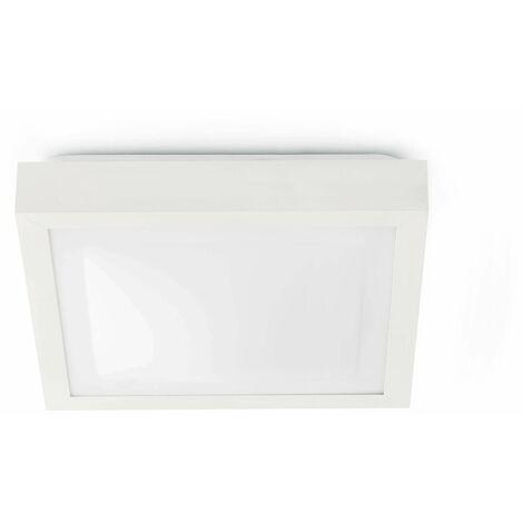 Tola white bathroom ceiling light 1 bulb