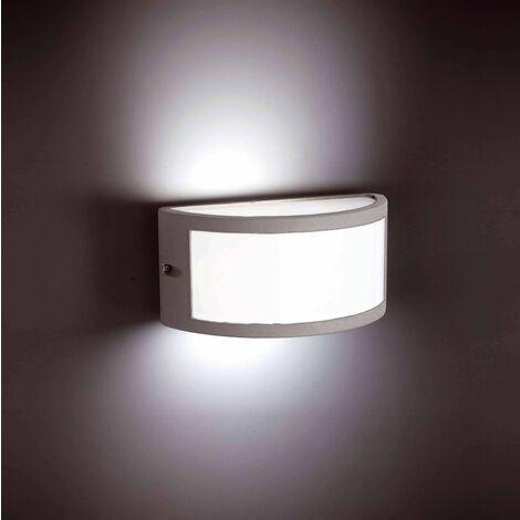 Gray garden wall light Negus 1 bulb