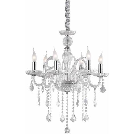 GIUDECCA Transparent crystal pendant light 6 bulbs