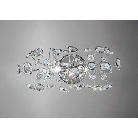 Savanna wall light with switch 2 lights polished chrome / crystal