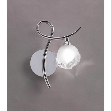 Fragma Right wall light with 1-light switch G9, polished chrome