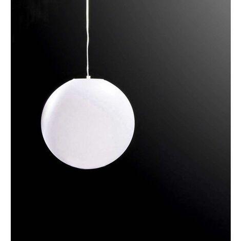Huevo Ball Pendant Light 1 Bulb E27 Small Outdoor IP44, opal white