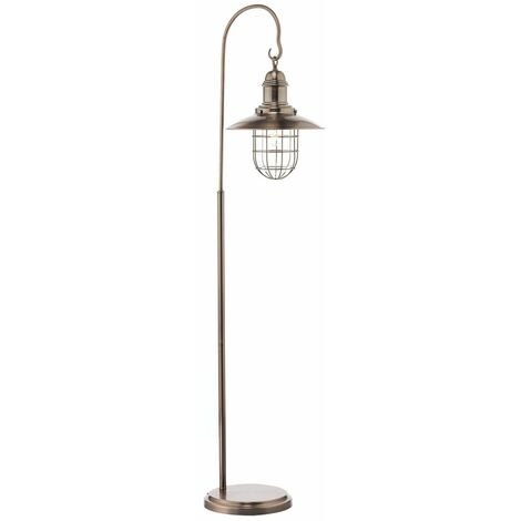 Terrace floor lamp copper and glass 1 bulb