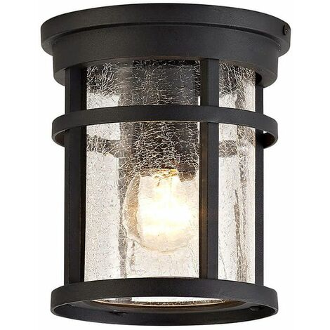 Ceiling light IP54 Cosmo 1 Bulb Black 6.5 Cm