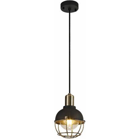 Suspension IP65 Hook 1 Bulb Matt black