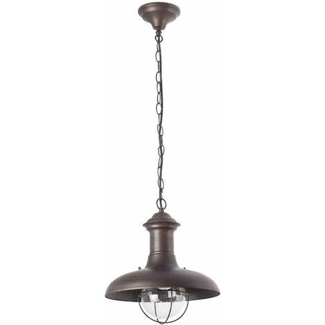 Estoril dark brown garden pendant light 1 bulb