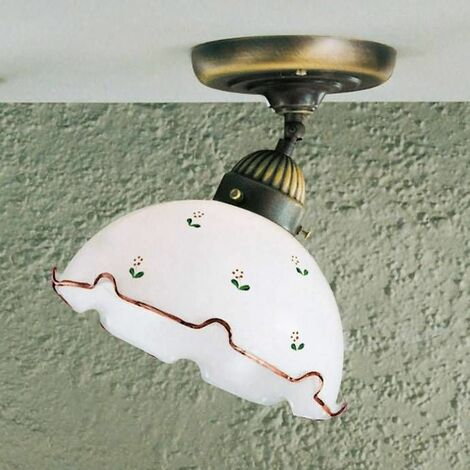 Cozy style NONNA antique brass ceiling light 1 bulb