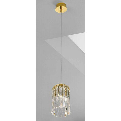 PRISMA crystal design pendant light 24K Gold 1 bulb