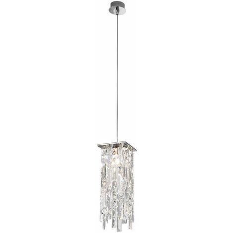Modern crystal pendant light PRISMA 24 Carats Gold 1 bulb 25W