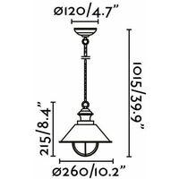 Nautica 1-light white garden pendant light