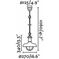 Estoril dark brown garden pendant light 1 bulb h106 cm