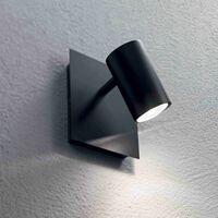 Black wall light SPOT 1 bulb