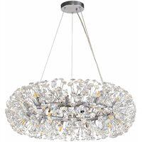 Dotz crystal pendant light 20 Bulbs Polished chrome