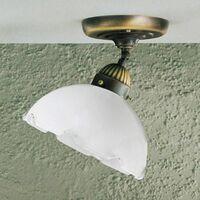 Cozy style NONNA antique brass ceiling light 1 bulb, diameter 20 Cm