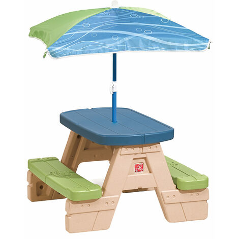 Mesa picnic con sombrilla sit&play cbtoys