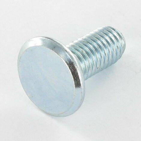 VIS METAUX TETE PLATE 8X19 DK16.5 CB 1.5 ACIER ZING BLANC | Conditionnement: 10 pieces