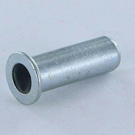 ECROU A SERTIR TETE PLATE TP BORGNE M8X25.5 ACPB 35 ACIER ZING BLANC | Conditionnement: 10 pieces