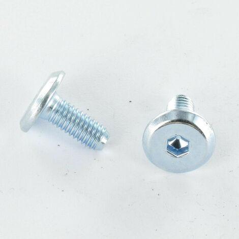 VIS METAUX TETE PLATE CLE DE 4 M6X30 ACIER ZING BLANC   Conditionnement: 10 pieces