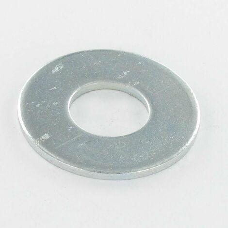 RONDELLE PLATE M10X27X2 L ACIER ZING BLANC   Conditionnement: Unitaire