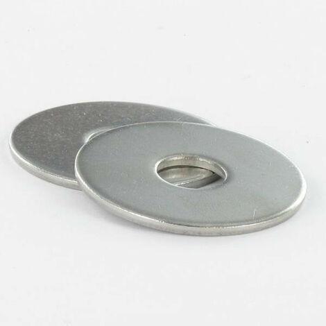 RONDELLE PLATE M16X50X3 LL ACIER ZING BLANC | Conditionnement: Unitaire